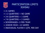 participation limits ighsau