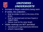 uniforms undershirts