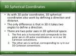3d spherical coordinates