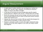angular measurement