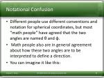 notational confusion