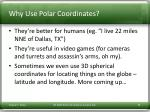 why use polar coordinates