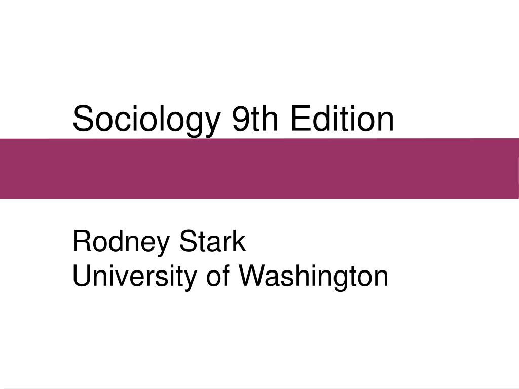sociology 9th edition l.