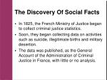 the discovery of social facts