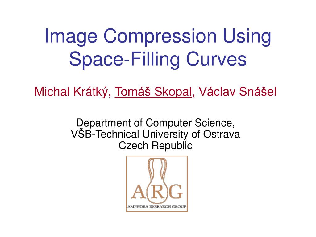 image compression using space filling curves l.