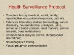 health surveillance protocol