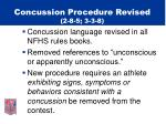 concussion procedure revised 2 8 5 3 3 8