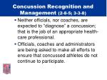 concussion recognition and management 2 8 5 3 3 813