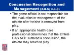 concussion recognition and management 2 8 5 3 3 814