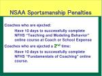 nsaa sportsmanship penalties