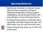 sporting behavior36