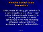 niceville school value proposition