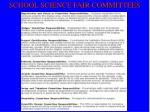 school science fair committees