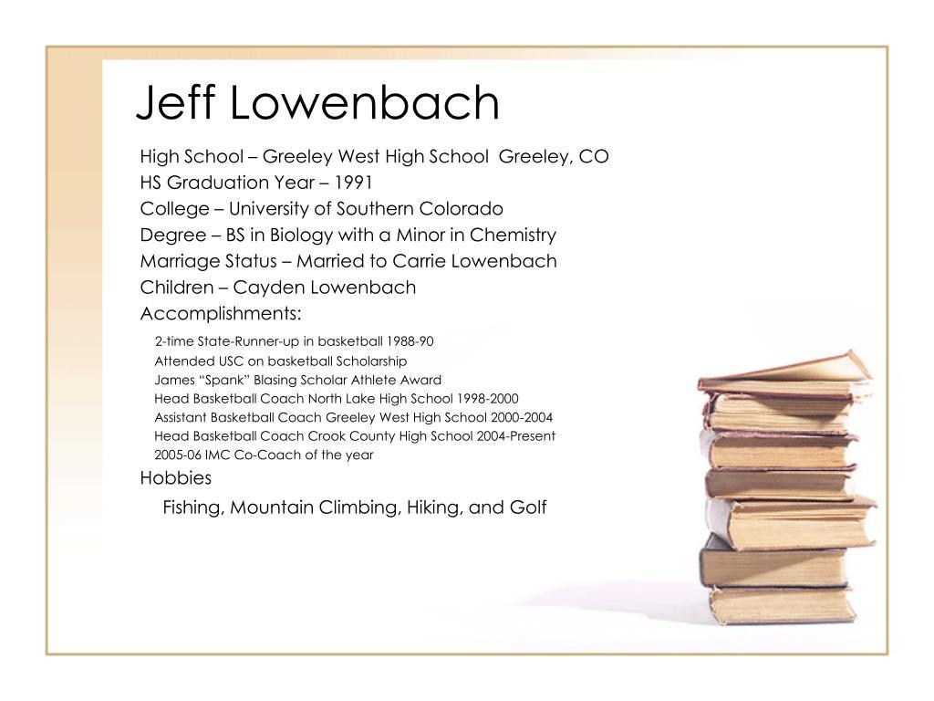 jeff lowenbach l.