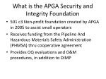 what is the apga security and integrity foundation