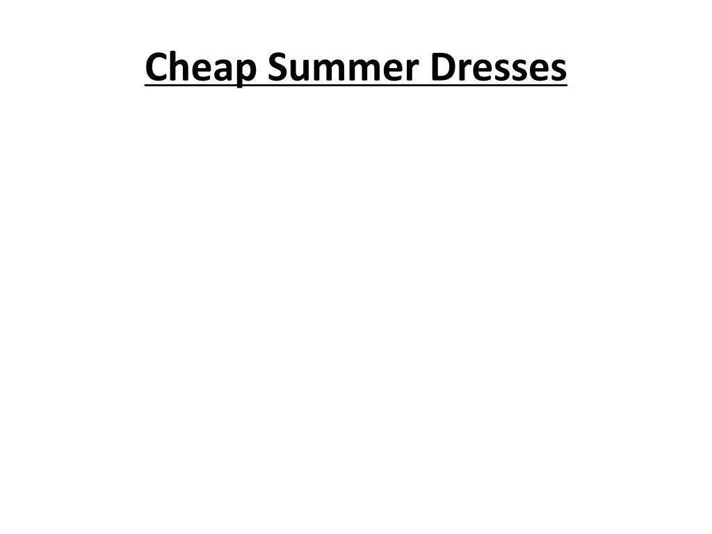 cheap summer dresses l.