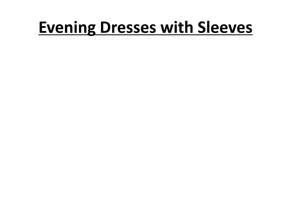 evening dresses with sleeves l.