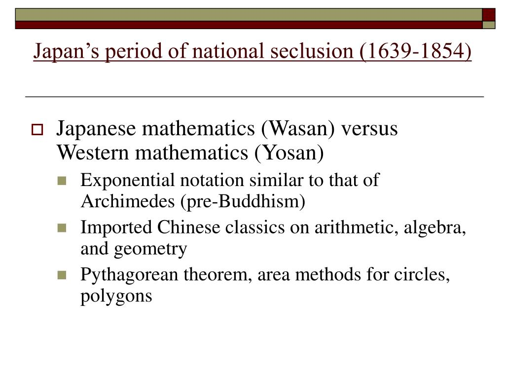 Japan's period of national seclusion (1639-1854)