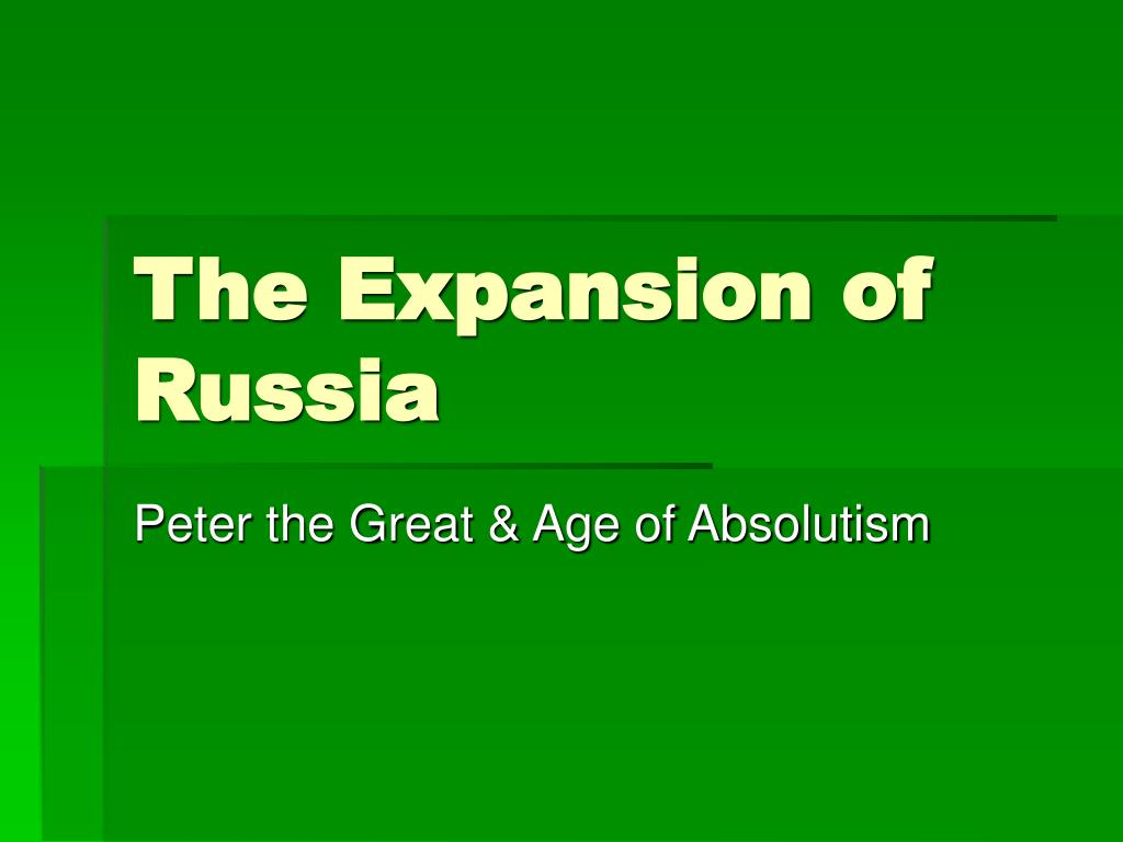 the expansion of russia l.