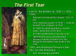 the first tsar
