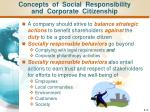 concepts of social responsibility and corporate citizenship