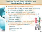 crafting social responsibility and sustainability strategies