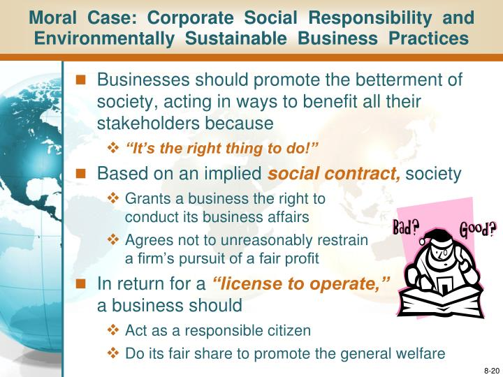 ethical and socially responsive business 3 essay Socially responsible investing (sri), or social investment, also known as sustainable, socially conscious, green or ethical investing, is any investment strategy which seeks to consider both financial return and social/environmental good to bring.