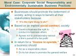 moral case corporate social responsibility and environmentally sustainable business practices
