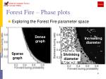 forest fire phase plots