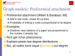 graph models preferential attachment