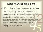 deconstructing an se68