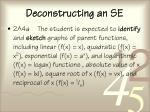 deconstructing an se72