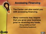 accessing financing