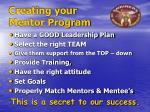 creating your mentor program