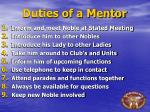 duties of a mentor