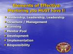 elements of effective mentoring you must have