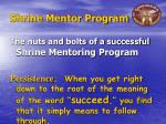 shrine mentor program