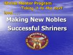 shrine mentor program taking it to the next level