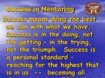 success in mentoring