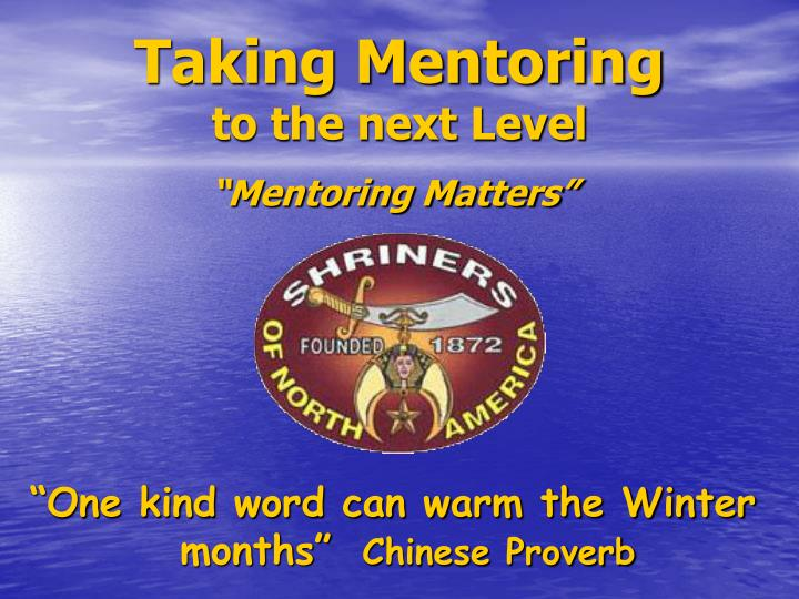 taking mentoring to the next level n.