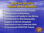 what key benefits s hould we be stressing