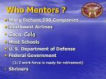 who mentors