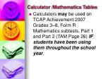 calculator mathematics tables