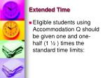 extended time44