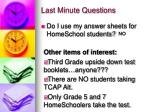 last minute questions51