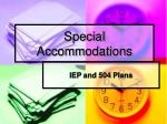special accommodations25