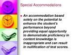 special accommodations27