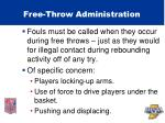 free throw administration48