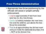 free throw administration50