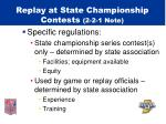 replay at state championship contests 2 2 1 note4
